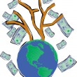Tree With Money — Foto Stock