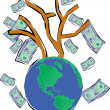 Tree With Money — Stock Photo