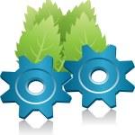 Green energy symbol — Stock Photo
