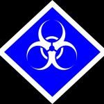 Biohazard caution sign — Stock Photo