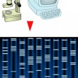 Computing DNA Analysis — Stok fotoğraf