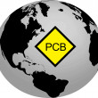 Royalty-Free Stock Photo: The planet Earth and PCB pollution