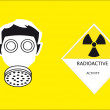 Radioactivity sign — Stock Photo