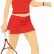 Joueuse de tennis — Stock Photo #7513125