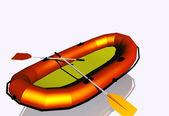 Nafukovací člun — Stock fotografie
