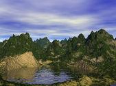 Dağ gölü — Stok fotoğraf