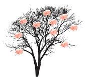 árvore com mealheiro — Foto Stock