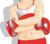 Boxing girl — Stock Photo