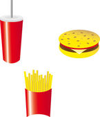 Set of fast food — Stock Photo