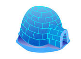 Igloo illustration — Stock Photo