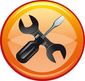 Settings and repair web icon — Stock Photo