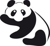 Panda illustration — Stock Photo