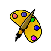 Art painting icon — Foto Stock