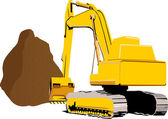 Excavator, power shovel — Stock Photo