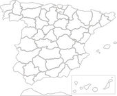 Spain map — Stock Photo