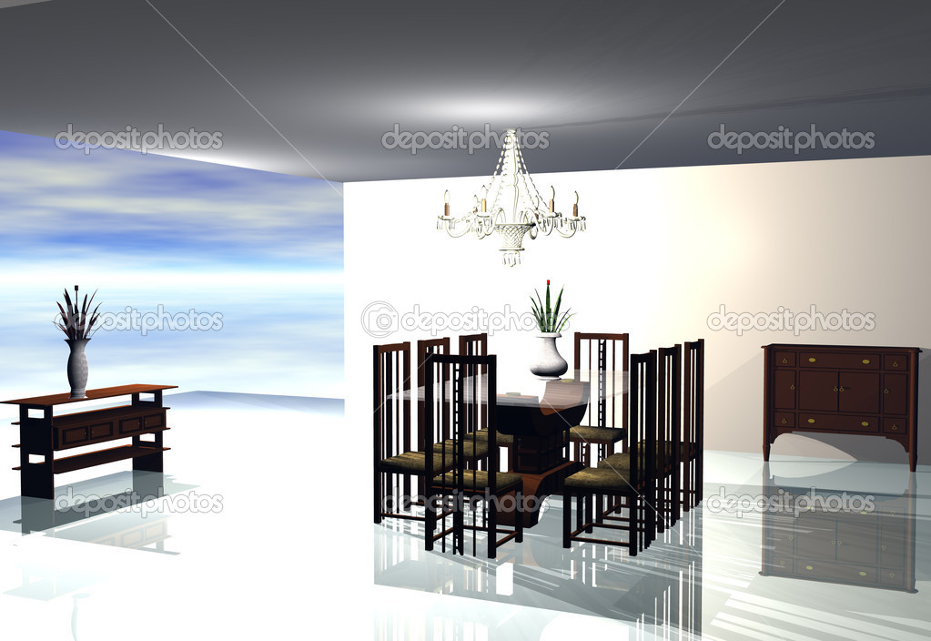 Home interior 3D rendering — Stock Photo #7512153