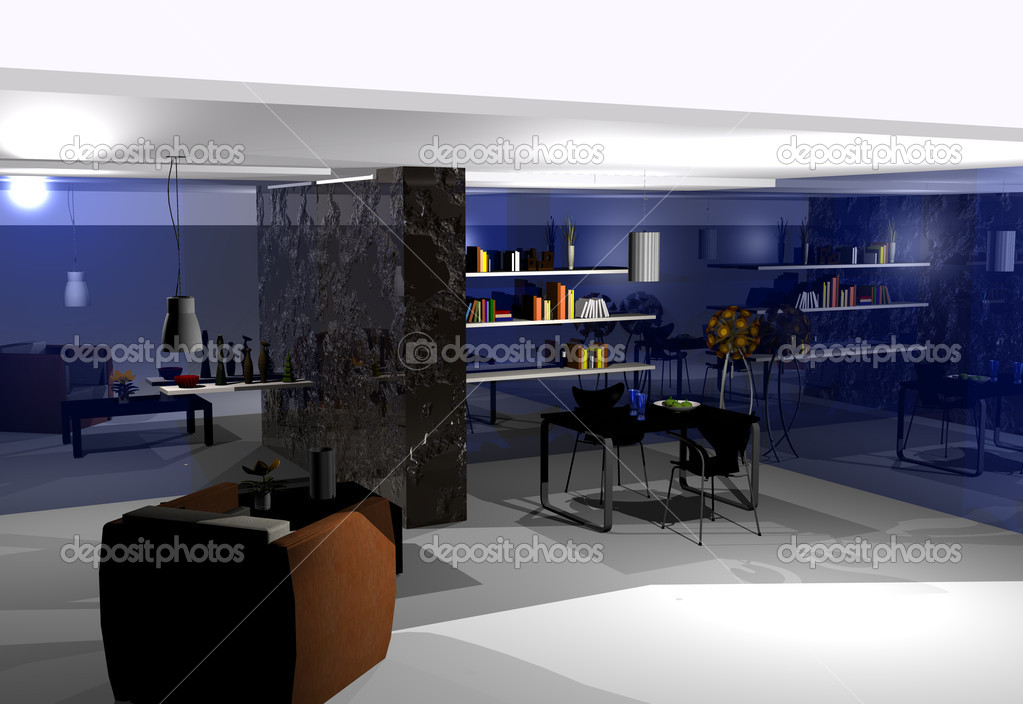 Home interior 3D rendering — Stock Photo #7512159