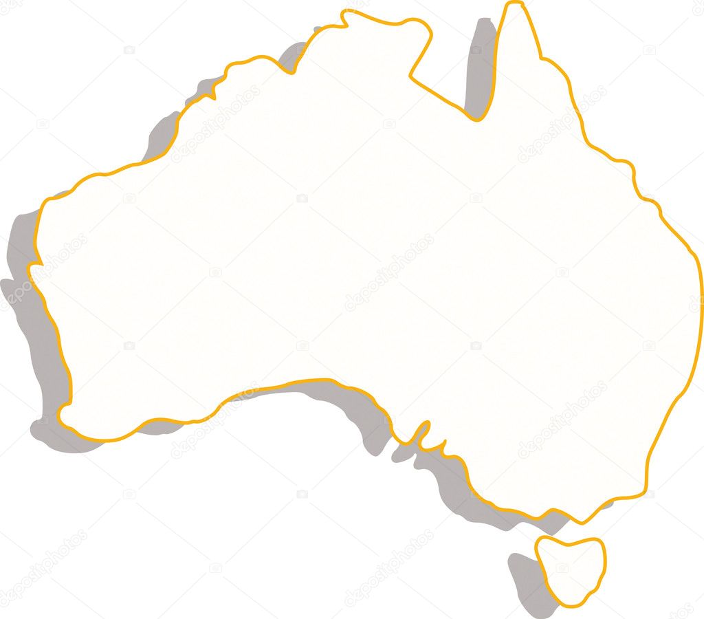 Australia map  Stock Photo #7512848