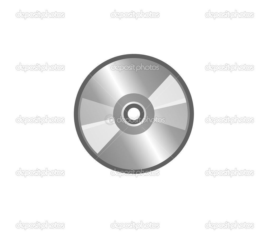 CD on a white background — Stock Photo #7512863