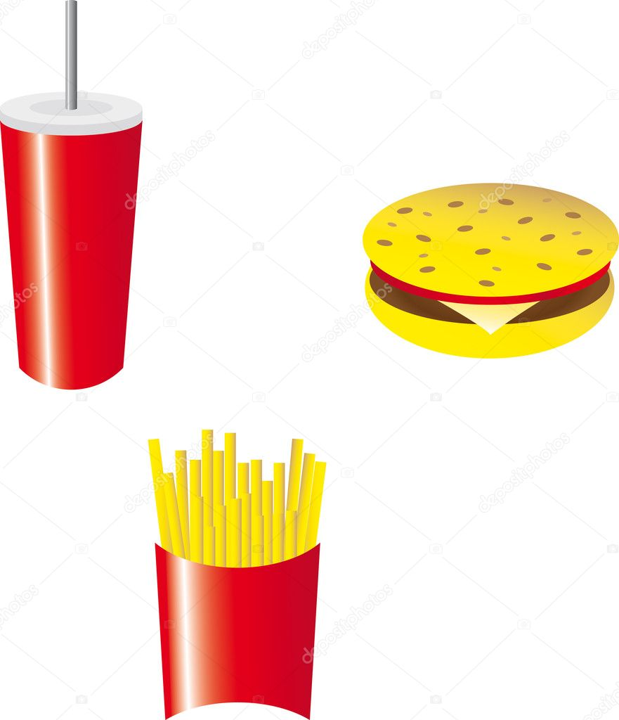 Set of fast food — Stockfoto #7513003