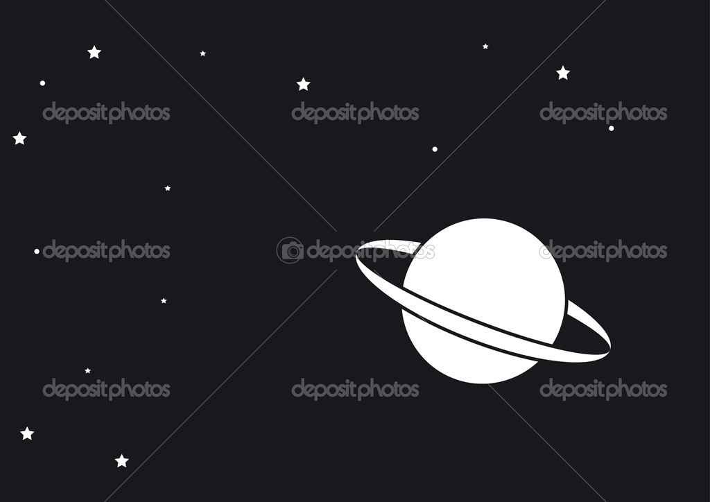Saturn planet illustration — Stock Photo #7513448