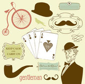 A Gentlemen's Club — Stock Vector