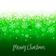 Green Christmas background with space for text. — Stock Photo #7549368
