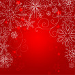 Red christmas background — Foto de Stock
