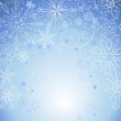 Blue Christmas background with space for text. — Stock Photo #7549392