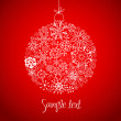 Royalty-Free Stock Photo: Beautiful Christmas ball illustration.