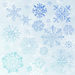 Doodle Snowflake Elements - Stockfoto