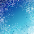 Blue christmas background with snowflakes — Stock Photo