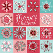 Retro Snowflakes — Stock Photo