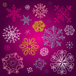 A Set of different cute Snowflakes — Stock Photo
