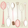 Stock Photo: Vintage spoons