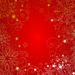 ストック写真: Red christmas background