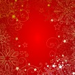 Stock Photo: Red christmas background