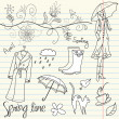 Stock Photo: Spring Doodles