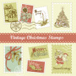 Royalty-Free Stock Photo: Vintage Christmas postage set