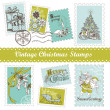 Vintage Christmas postage set — Stock Photo #7549589