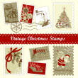 Vintage Christmas postage set — Foto Stock