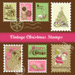 Stock Photo: Vintage Christmas postage set