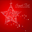 Royalty-Free Stock Photo: Beautiful Christmas Star illustration. Christmas Card