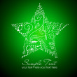 Beautiful Christmas Star illustration. Christmas Card — 图库照片