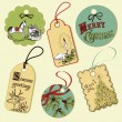 Vintage Christmas tags — Stock Photo