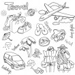Travel doodles. Vector illustration. - Stock Photo