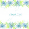 Blue Flower Background - Zdjęcie stockowe