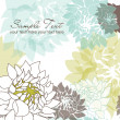 Stylish floral background - Stockfoto
