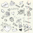 LOVE doodles — Foto Stock
