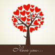 Abstract heart tree - Stockfoto
